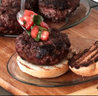 Mozzarella Basil Stuffed Hamburgers Recipe
