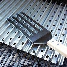 grill grates and fork